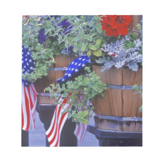 Flags and Flowers in Philipsburg Montana Notepad