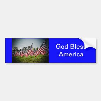 Flags at Art Hill-9-11 Bumper Sticker