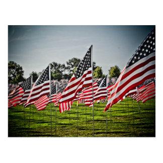 Flags at Art Hill-9-11 Postcard