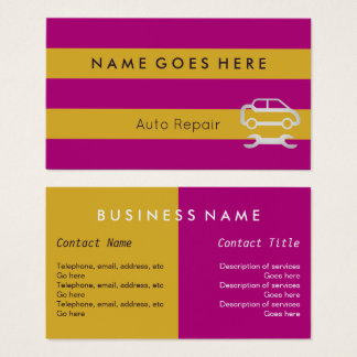 """Flags"" Auto Repair Business Cards"