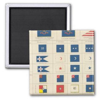 Flags, badges, etc square magnet