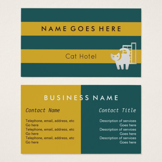 """""""Flags"""" Cat Hotel Business Cards"""