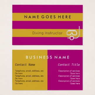 """Flags"" Diving Instructor Business Cards"