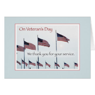 Flags Flying on Veteran's Day Greeting Card