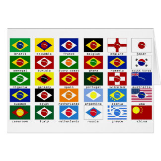 flags for the world cup in Brazil Card