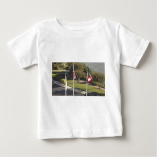Flags from Forte Pulaski, Savannah Georgia Baby T-Shirt