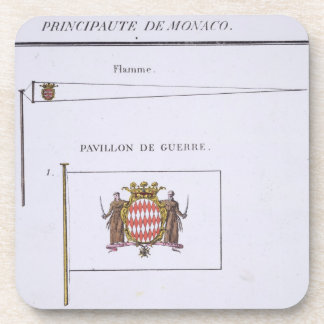 Flags from Monaco, from a French book of Flags, c. Coasters