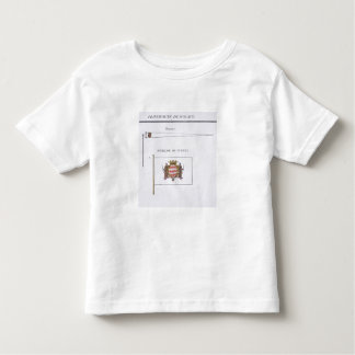 Flags from Monaco, from a French book of Flags, c. Toddler T-Shirt