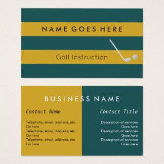 """""""Flags"""" Golf Professional Business Cards"""