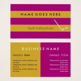"""Flags"" Golf Professional Business Cards"