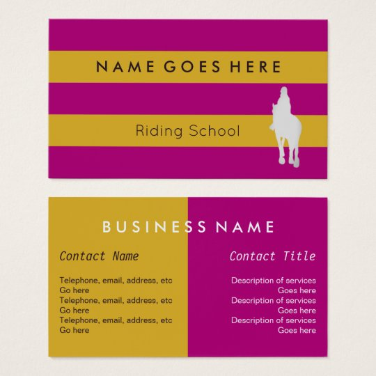 """""""Flags"""" Horse Riding Business Cards"""