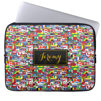 Flags of All Nations Laptop Sleeve