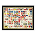 Flags of Countries - Vintage Chart Post Cards