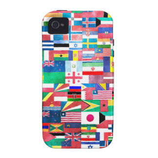 Flags of Nations Collage iPhone4 Case
