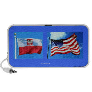 FLAGS OF POLAND AND U S iPhone SPEAKER