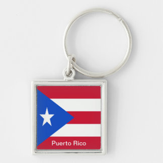 Flags of Puerto Rico Key Ring