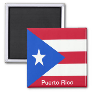 Flags of Puerto Rico Magnet