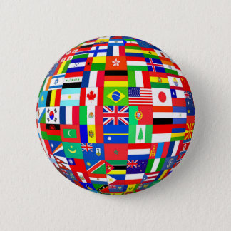 FLAGS OF THE GLOBE 6 CM ROUND BADGE
