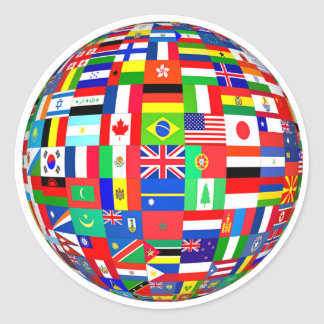 FLAGS OF THE GLOBE CLASSIC ROUND STICKER