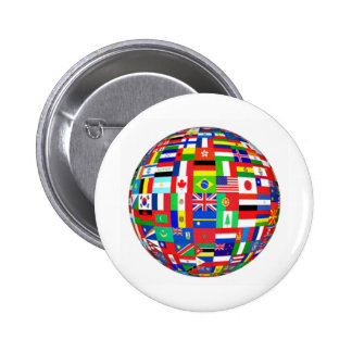 Flags of the World 6 Cm Round Badge