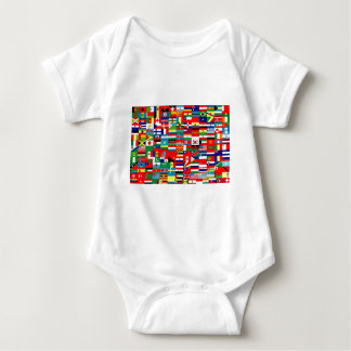 FLAGS OF THE WORLD BABY BODYSUIT
