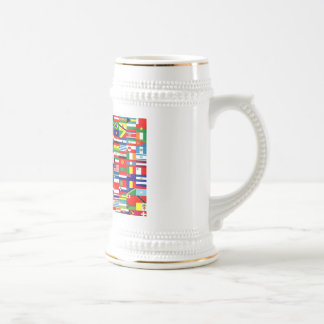 FLAGS OF THE WORLD BEER STEIN