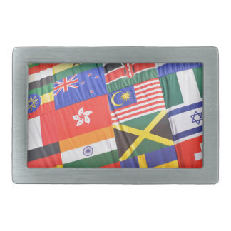 Flags of the world belt buckle