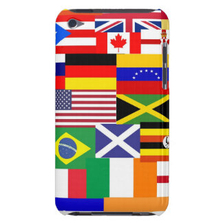 Flags of the world collage barely there iPod covers