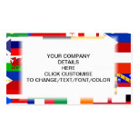 Flags of the world collage pack of standard business cards
