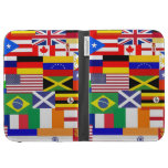 Flags of the world collage cases for kindle