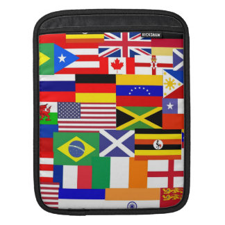 Flags of the world collage iPad sleeve