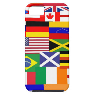 Flags of the world collage iPhone 5 cover