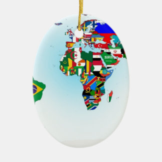 FLAGS OF THE WORLD CHRISTMAS ORNAMENT