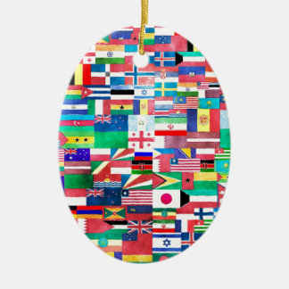 Flags of the World Christmas Tree Ornament