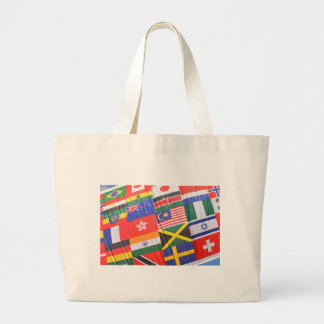 Flags of the world jumbo tote bag