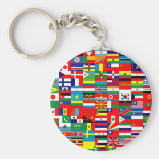 FLAGS OF THE WORLD KEY CHAINS