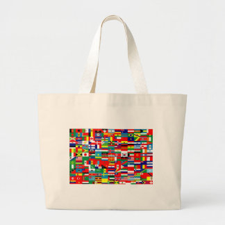 FLAGS OF THE WORLD LARGE TOTE BAG