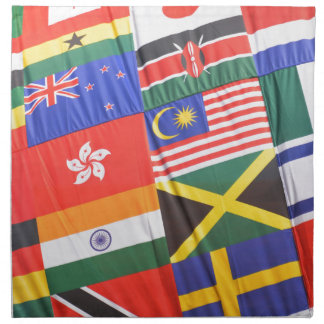Flags of the world napkin