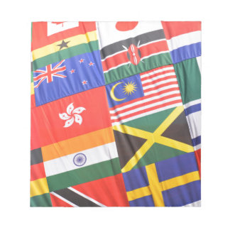 Flags of the world notepad