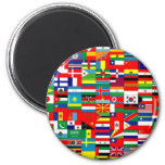 FLAGS OF THE WORLD REFRIGERATOR MAGNETS