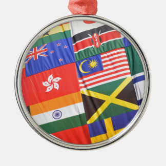 Flags of the world Silver-Colored round decoration