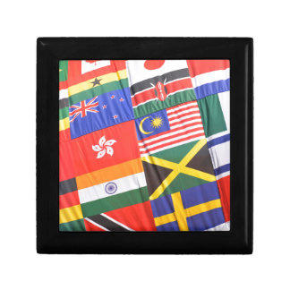 Flags of the world small square gift box