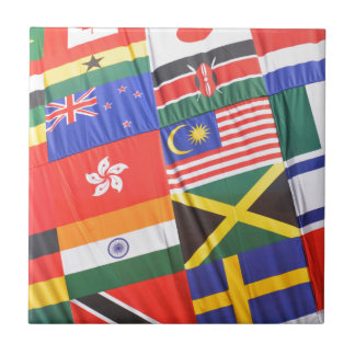 Flags of the world tile