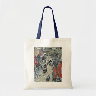 Flags on 57th Street, Hassam Vintage Impressionism Bags