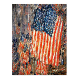 """Flags on the Waldorf"" by Childe Hassam Postcard"