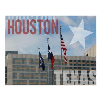 Flags over Houston, Texas Postcard
