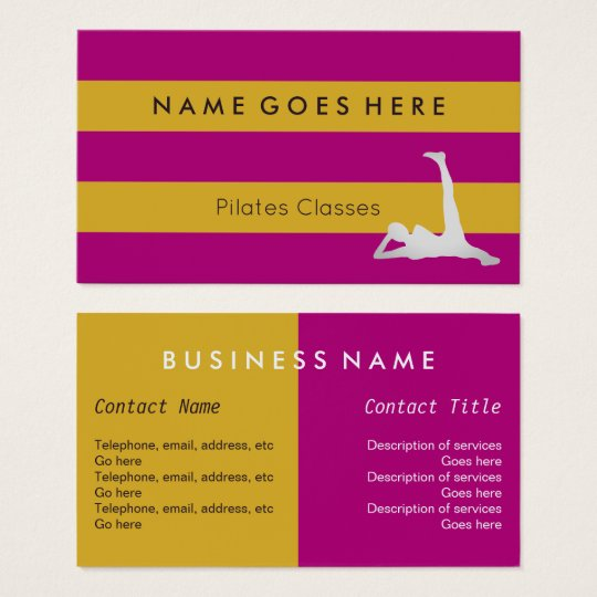"""Flags"" Pilates Business Cards"