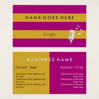 """Flags"" Professional Singer Business Cards"