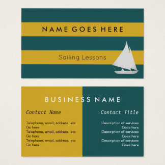 """Flags"" Sailing Business Cards"