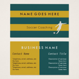 """Flags"" Soccer Coaching Business Cards"